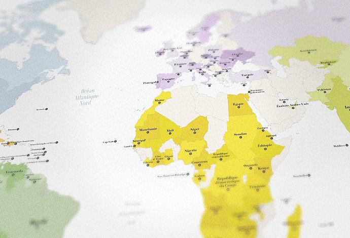 Carte des Alliances françaises