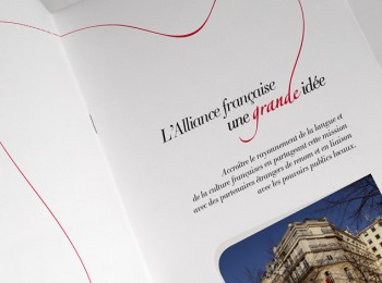 Support de communication pour la Fondation Alliance française