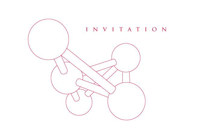 Invitation pour la soirée de gala à l'Atomium de Bruxelles