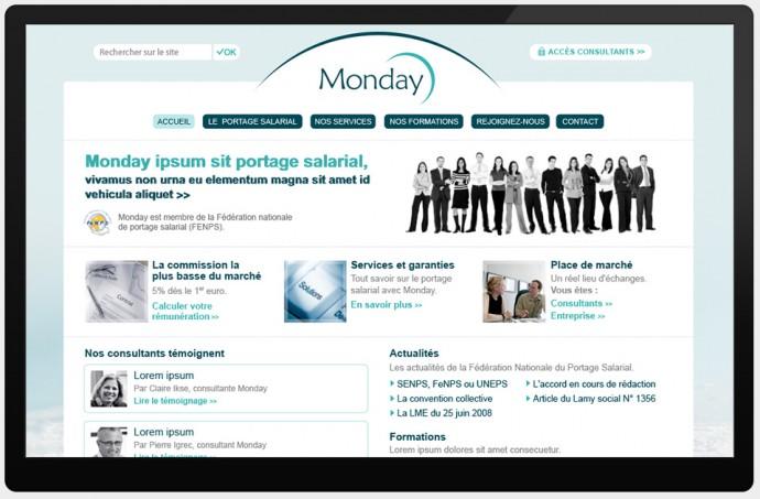 Charte graphique web Monday (proposition)