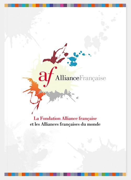 Plaquette 130 ans de l'Alliance française