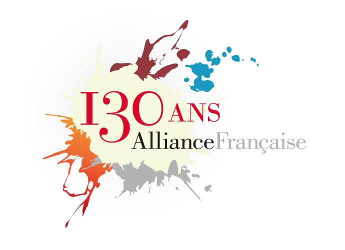 Logo des 130 ans de l'Alliance française