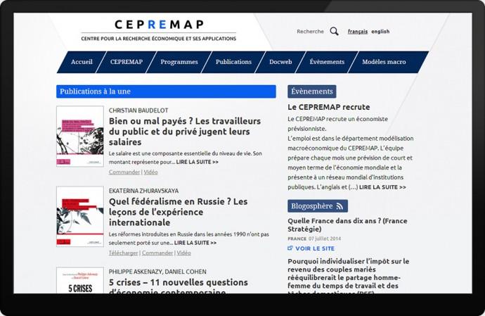 Page d'accueil CEPREMAP.fr