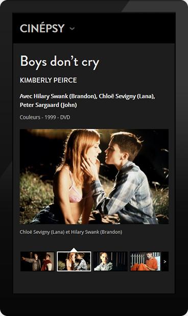 Version mobile de Cinépsy