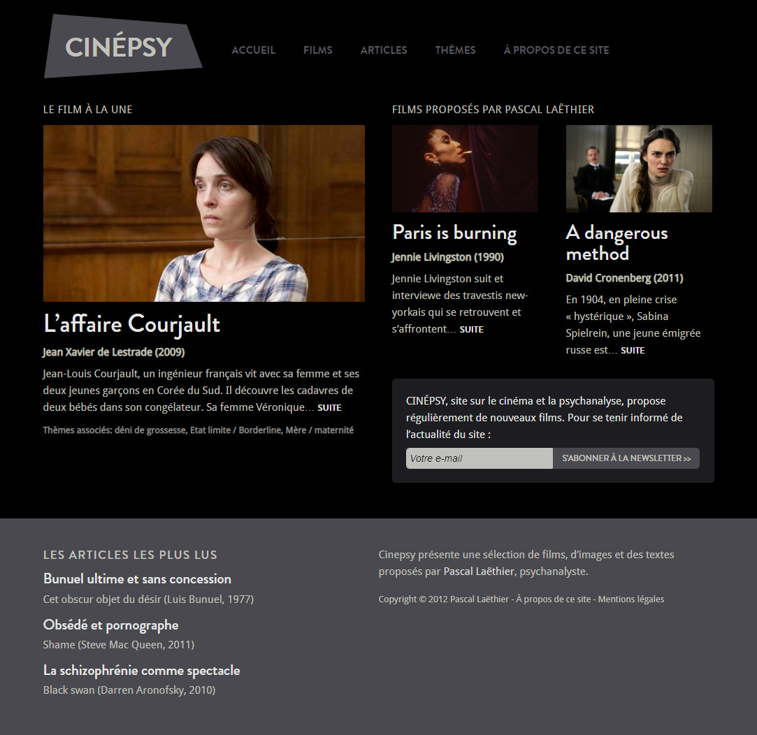 Page d'accueil Cinepsy