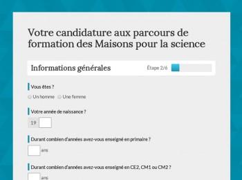 """""""Formation Maisons pour la science"""" UI design"""