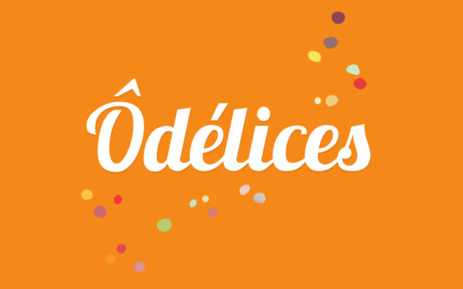Logo Ôdélices fond orange