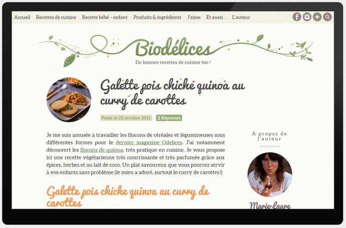Une recette sur Biodélices
