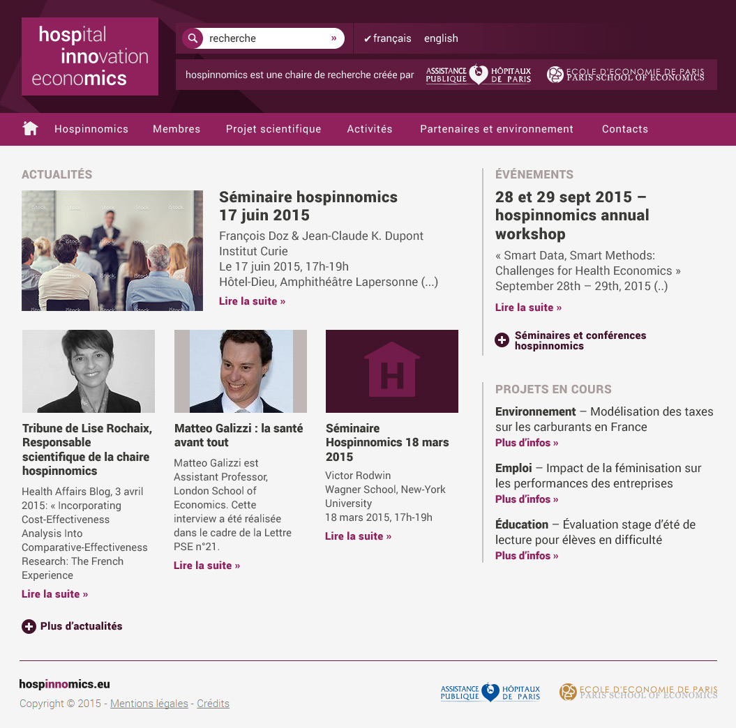 Site Internet Hospinnomics