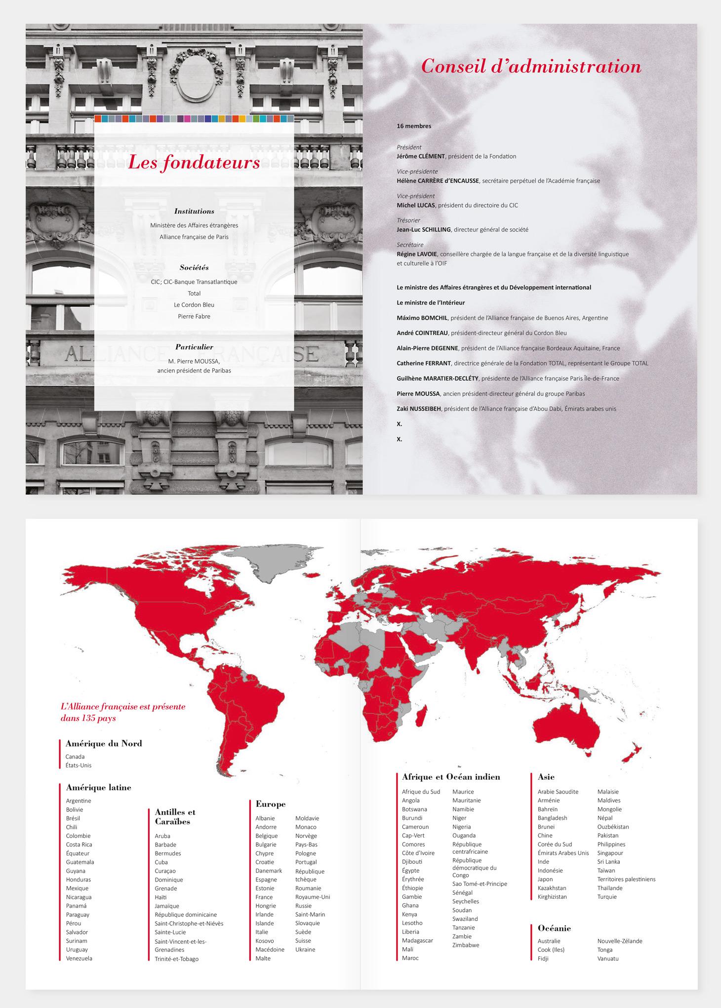 Plaquette de présentation, pages intérieures